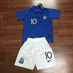 Kids France National Soccer Jersey #10 MBAPPE